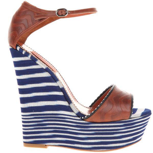 MISSONI Sandals ($715) ❤ liked on Polyvore