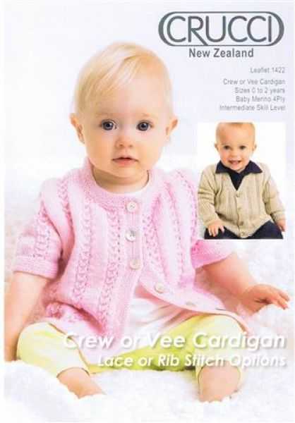 Crucci Crew Or Vee Cardigan Lace Or Ri Stitch Options  Leaflet 1422