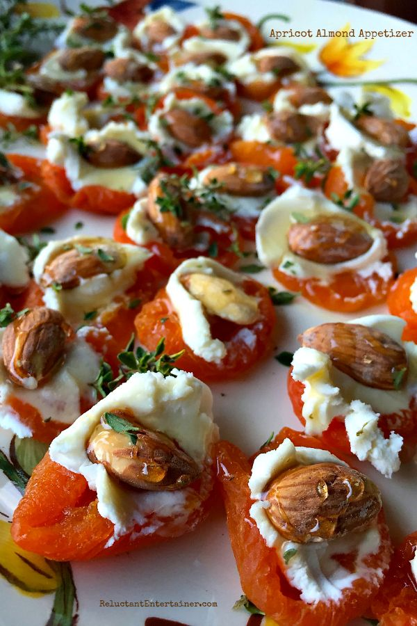 Apricot Almond Appetizer at ReluctantEntertainer.com