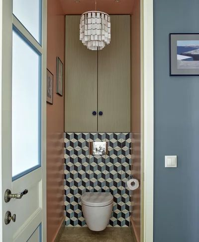 Дизайн туалета в панельном доме (16 фото), варианты ...
