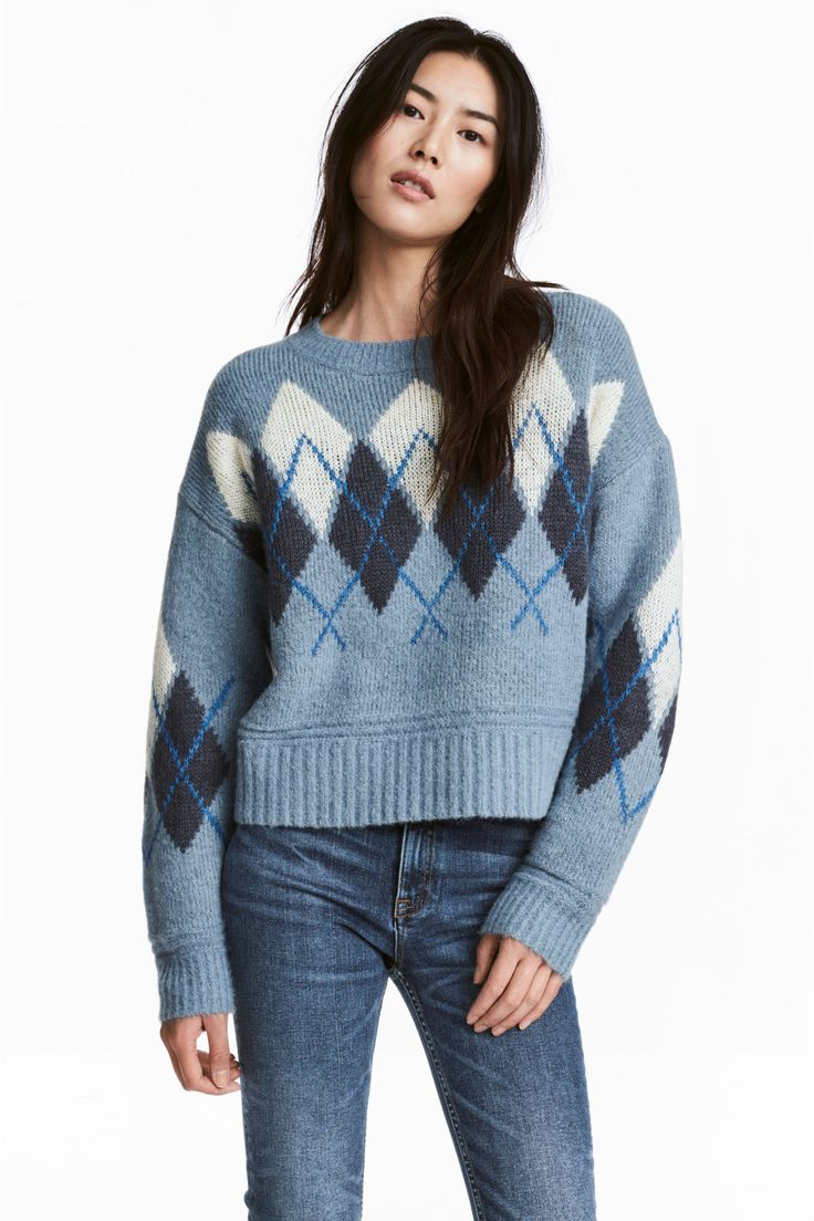 Sweter - Jasnoniebieski - ONA | H&M PL