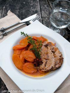 Paleron de veau aux carottes et à l'orange