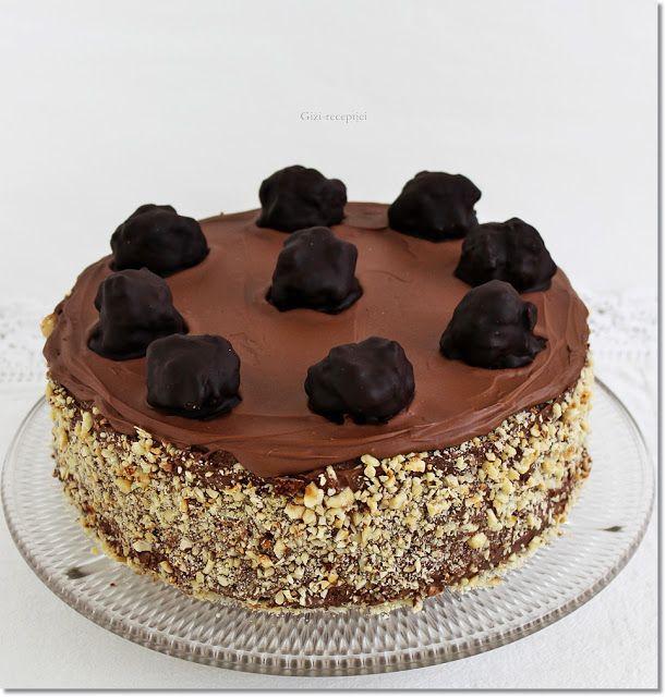 Gizi-receptjei.  Várok mindenkit.: Mogyorós csokoládétorta. (Ferrero Rocher torta)
