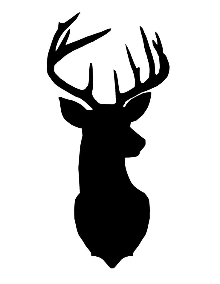 Deer Head Silhouette. I'll paint this on burlap then stick it in a vintage frame.