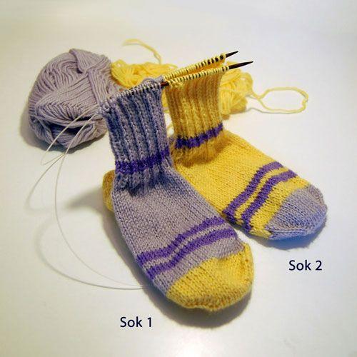 PaaPinden.dk's Strikkeskole - At strikke to sokker på en gang
