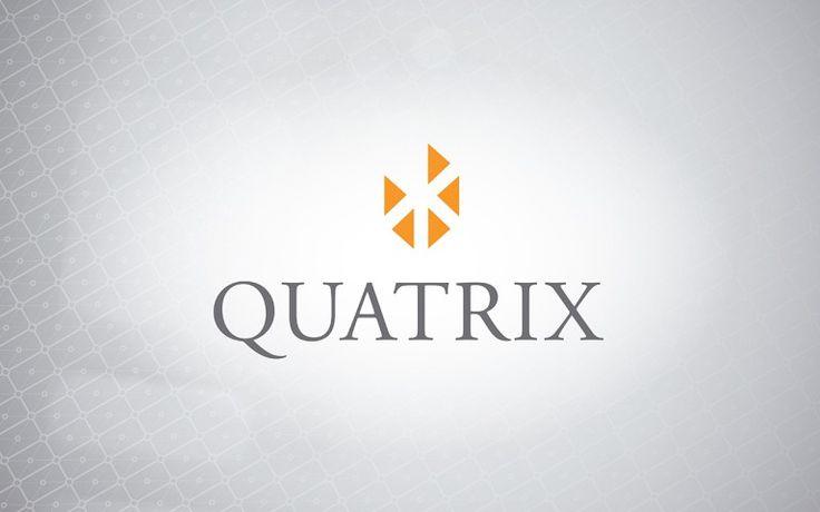 quatrix corporate logo stack positive