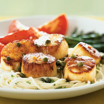 Scallops with Caper and Brown Butter Sauce | Coastalliving.com