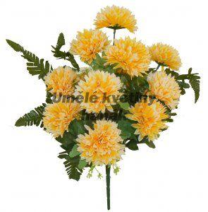 K276 - Kytice chryzantém žlutá - 45cm Hanák
