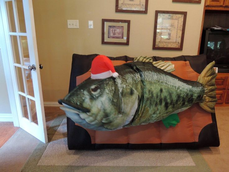 Gemmy prototype christmas billy bass fish inflatable airblown for Billy bass fish