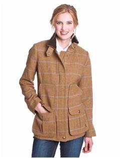 """""""Joules UK"""" FIELDCOAT Womens Semi-Fitted Tweed Field Coat"""