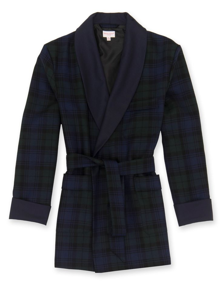 Buy Our Mens Dressing Gowns Online From Derek Rose, Including Mens Smoking Jacket Tartan1 BW. We Specialise In High Quality Mens And Ladies Sleepwear, Loungewear And Underwear.