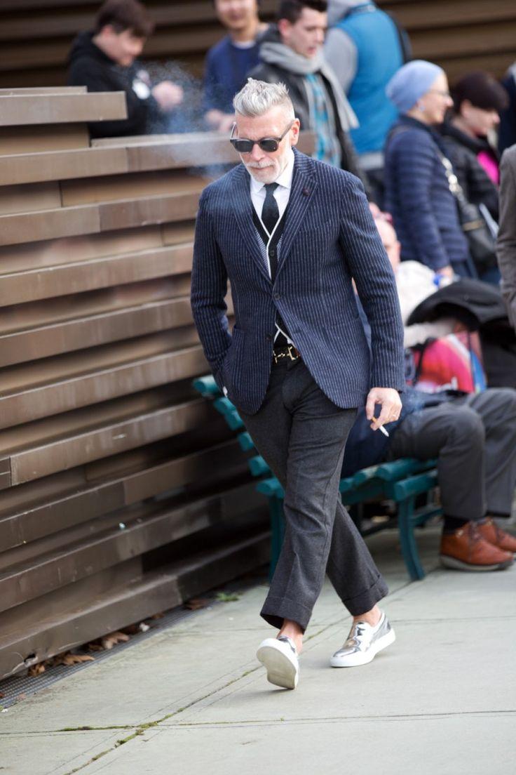 Street Style Pitti Uomo 85 - Nick Woosterニックウースターのジャケット着こなしメンズ