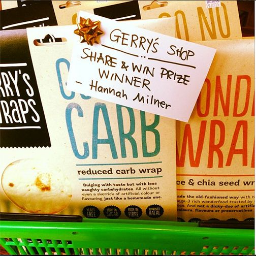 Hannah Milner has won this shopping basket full of Gerry's Wraps, for sharing our post last week on Facebook. The post on Sept 17 announced the opening soon of Gerry's online shop. More specials and deals coming soon to celebrate. Sign up at www.gerrys.co.nz to hear first.