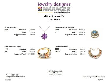 12 best Jewelry Designer Manager Line Sheet images on Pinterest ...