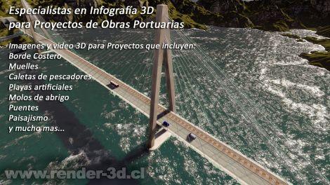 render 3d obras portuarias
