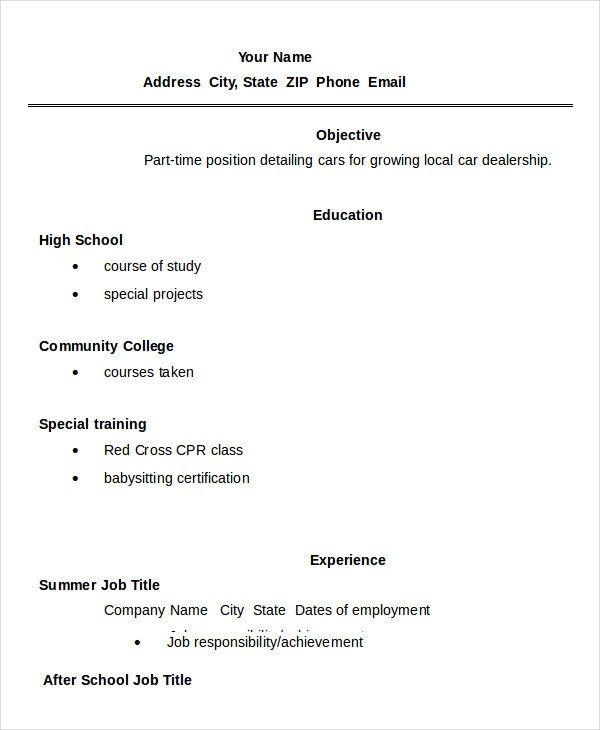 11 High School Student Resume Templates Pdf Doc Free High School Resume Student Resume Template High School Resume Template