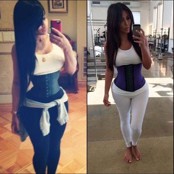 Luv U Fearlessly!: So Stylish Kim K. and China Blac waist training does it really work?
