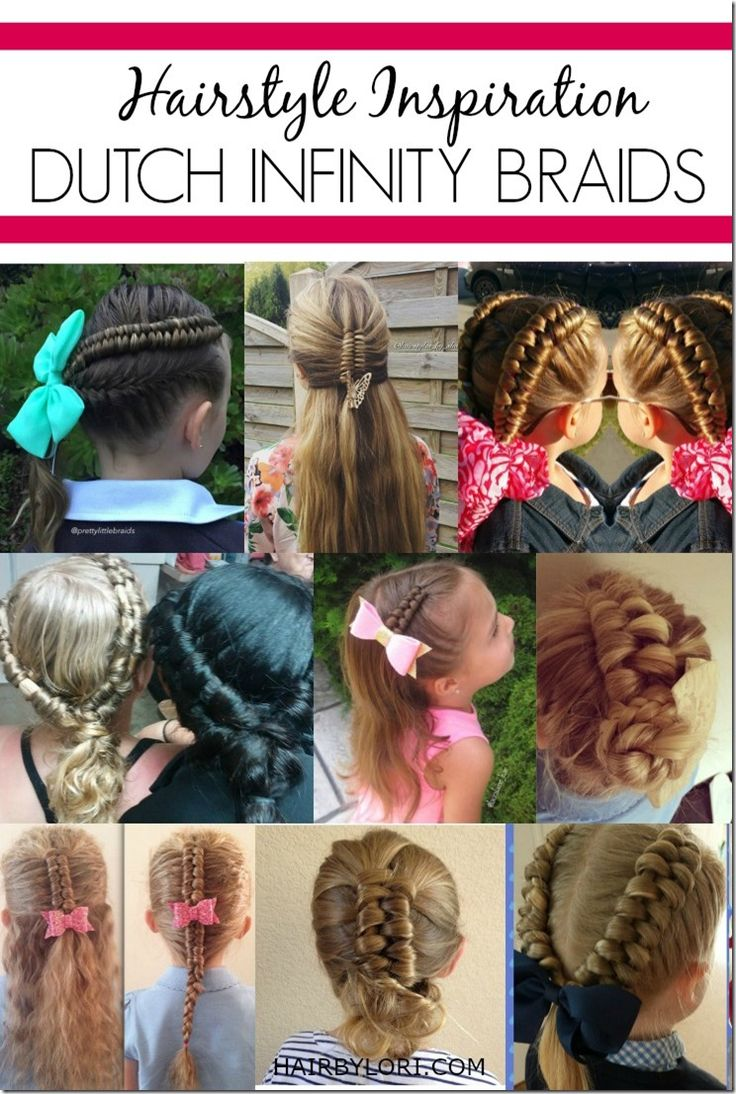 Dutch infinity braid hairstyle ideas! This braid looks similar to a fishtail, but is a completely different technique. It's n
