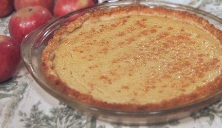 Applesauce Pie, This pie is exceptionally easy to prepare. Just mix applesauce with eggs, sugar and cinnamon, pour into a pie shell and bake! I love to make it for afternoon tea.