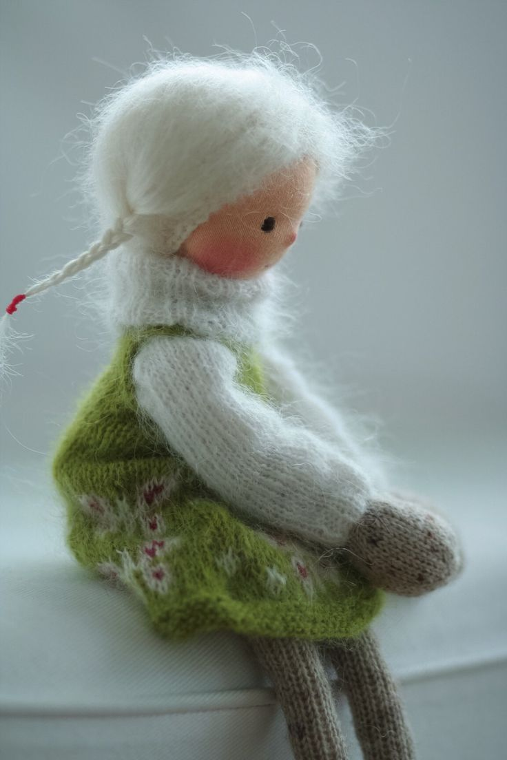 Handmade art doll Knitted doll Joy 14 by by danielapetrova on Etsy