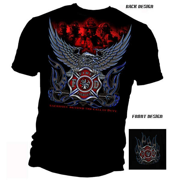 'Beyond the Call of Duty' Firefighter T-Shirt   Shared by LION