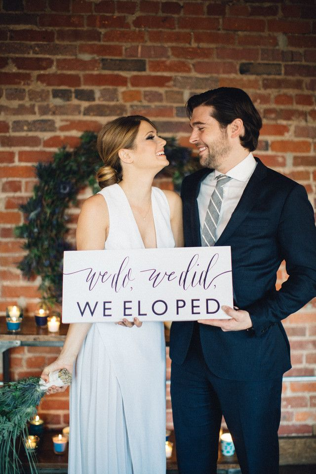 We Do We Did We Eloped Sign | Marriage Announcement | SS-18
