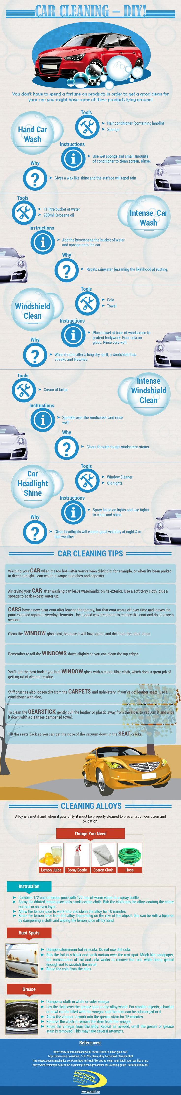 Visualistan: Car Cleaning - DIY #infographic