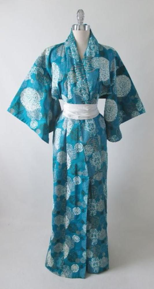 Vintage 50 S 60 S Hawaiian Alfred Shaheen Japanese Kimono Japanese Kimono Vintage Kimono Vintage Clothing For Sale