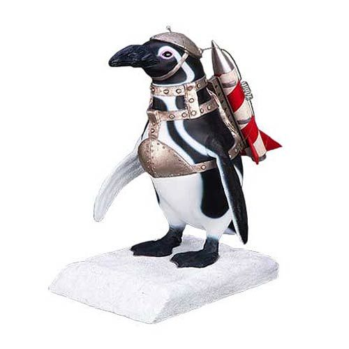 Remember when the Penguin commanded those Penguins in Batman returns? He may have been taking his name a little too seriously. However, they were pretty cute in a deadly sort of way. This Batman Returns Penguin Commando Life-Size Statue will let you relive those deadly Penguin attacks.  This 2