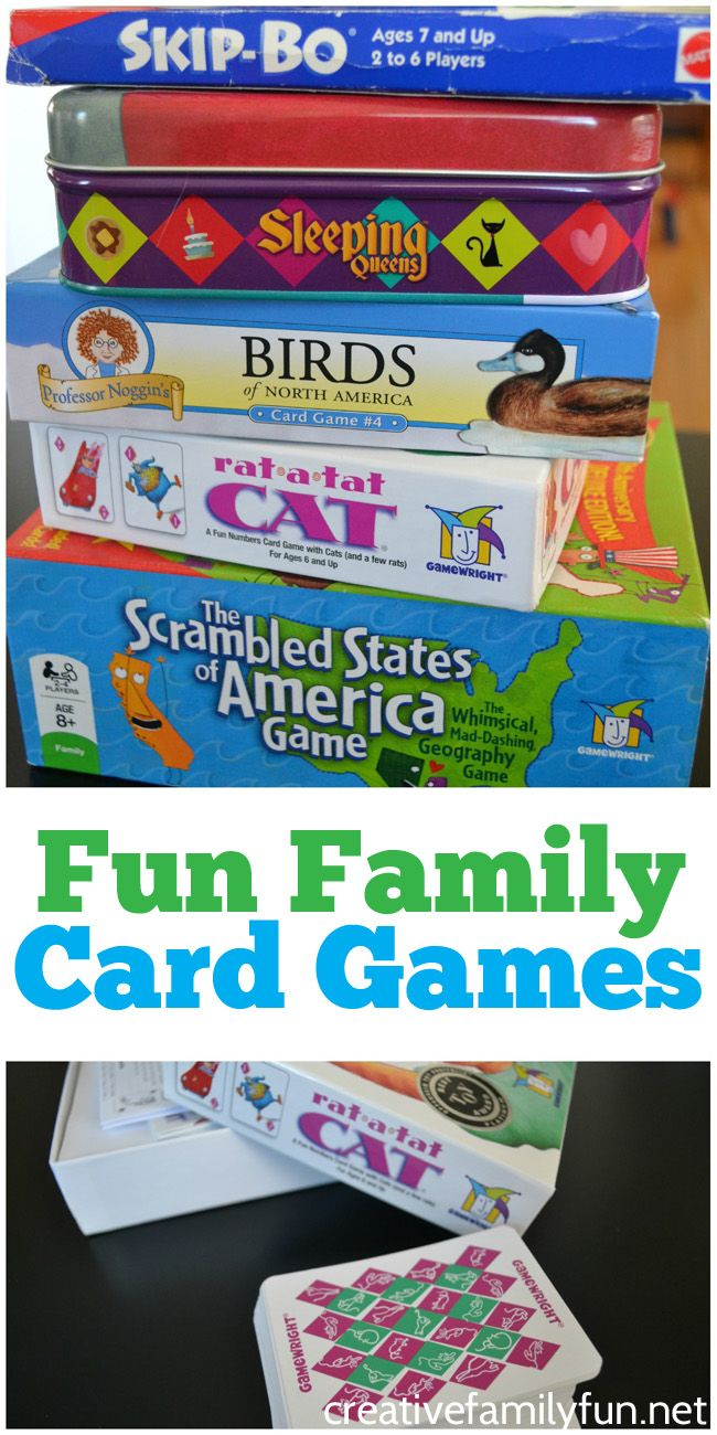 Easy To Play Card Games For Family Game Night Family Games Family Card Games Kids Game Night