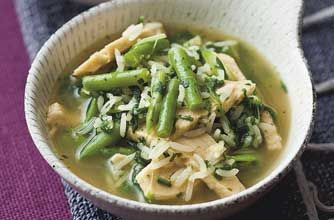 LUNCH: Quick Quorn Lunch Bowl This healthy low-fat bowl of Quorn, bean and spinach soup is made from frozen foods.