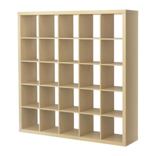Ikea Expedit (not Kallax) 5x5 storage shelving unit with 9 Drona boxes