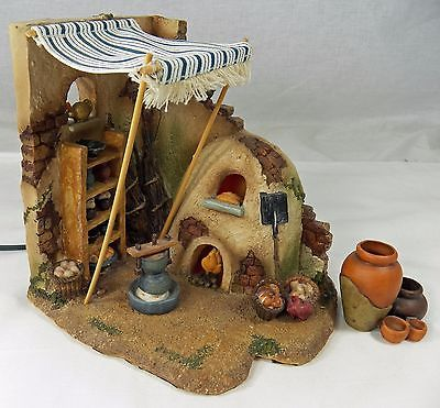 Fontanini Nativity Village Building Lighted Bakery 2005 # 55527 Retired Roman