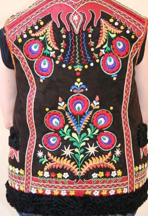 Back of male vest from village Ždiar, Spiš region, Eastern Slovakia.