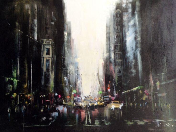NY city by Gavin Collins oil on canvas