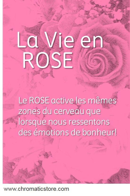 Le ROSE active les mêmes zones du cerveau que lorsque nous ressentons des émotions de bonheur! www.chromaticstore.com #psychologiecouleur #rose