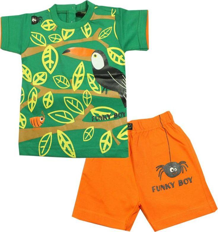 #Kid's Care #Boys #Casual T-#shirt Shorts  (Green)