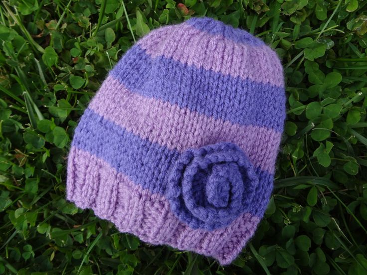 Very Violet Newborn Hat! (Free Knitting Pattern) Knitted ...