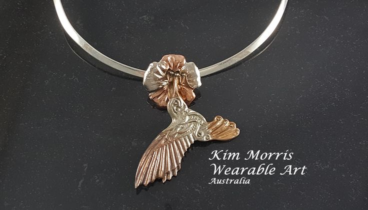 Aussie Metal Clay by Kim Booklass  hand sculpted pendent wearable art