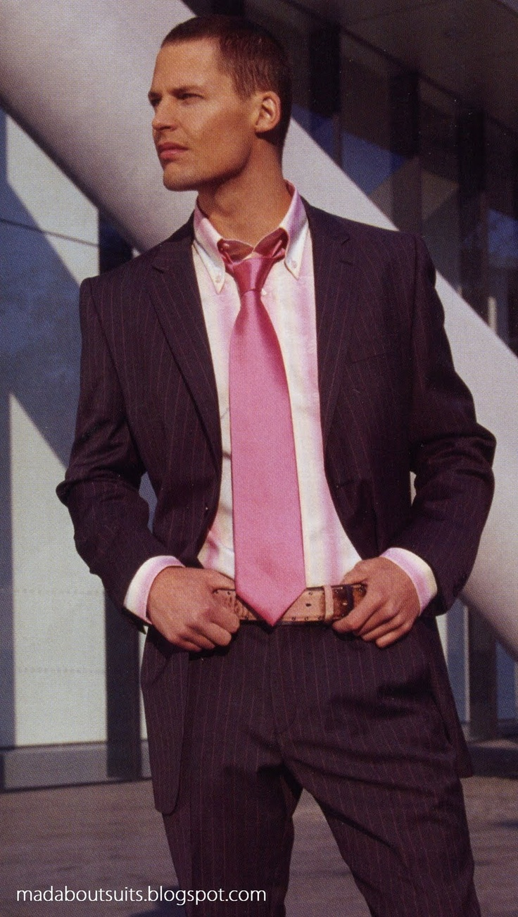 Brown Suit, Pink Tie | Mad About Suits? | Guys in Pink Ties ...