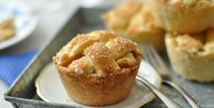 Egyszemélyes kis muffin alakú almás pite