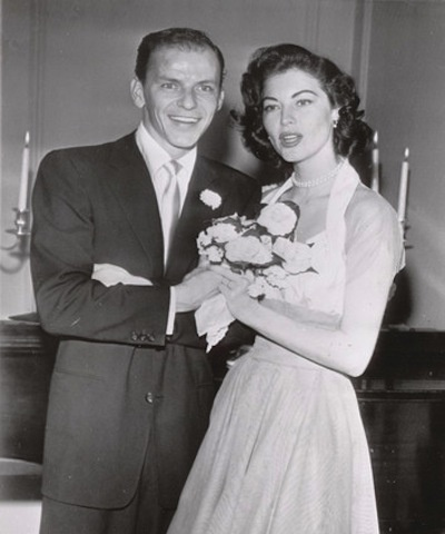 The four weddings of Frank Sinatra: Second wife Ava Gardner (m. 1951-1957).