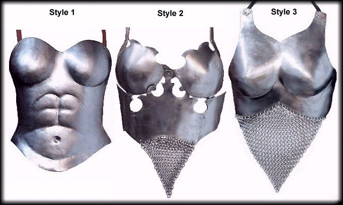 Female breastplate trio from valentine armoury.