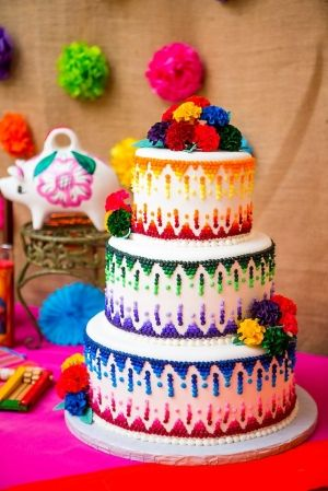 Pretty Mexican cake...goes with hot Mexican entertainment. Find the BEST at GigMama.com