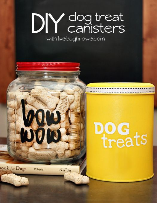 DIY Dog Treat Canisters - livelaughrowe.com