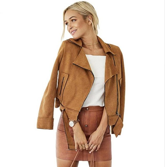 Own this gorgeous and stylish Faux Suede Jacket in a beautiful Beige colour that is forever in trend and will never go out of fashion. The Jacket is thin, so perfect for the Autumn time paired with a knitted top and leggings or jeans. The coat is lined with satin fabric and features a belt …
