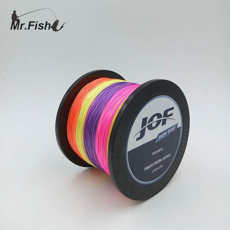 Mr. Fish 500M FISHING Super Strong Japan Multifilament PE braided fishing line 8 Strands 13 20 30 40 50 60 80 120 150 200LB
