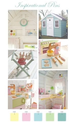 Love the wooden kitchen toys and the kid-sized laundry hanging rack for the playhouse