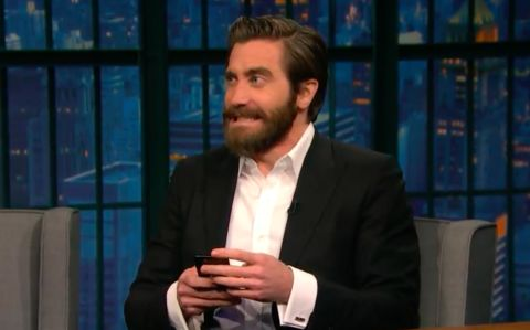 Last night, Seth Meyers did the thing any of us would do if one of our friends claimed to have a famous bestie: Tell them to prove it. The late-night host had Jake Gyllenhaal on his show and asked the actor if he was really as close with his Life costar Ryan Reynolds as the press says he is....
