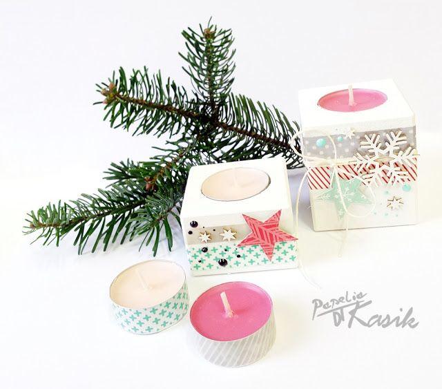 Świąteczne dekorowanie domu - świeczniki
